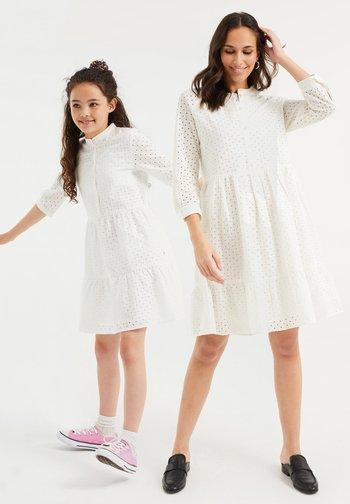 Skjortekjole - white