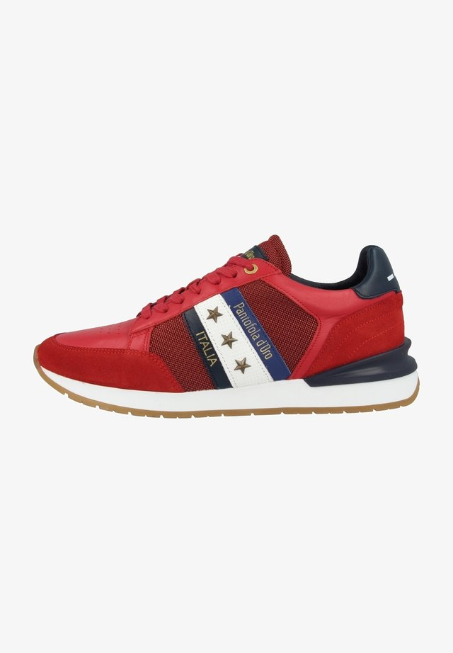 Sneakers laag - racing red