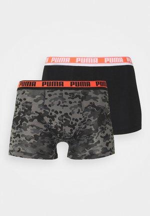 MEN CAMO BOXER 2 PACK - Culotte - black/grey melange