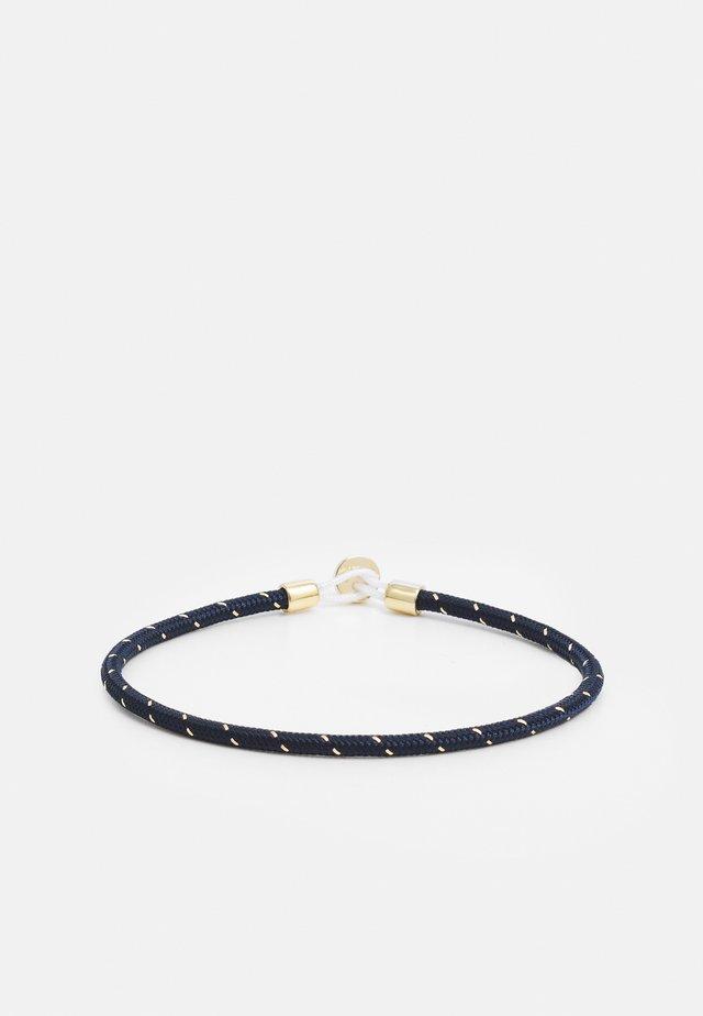 NEXUS ROPE BRACELET - Rannekoru - navy/gold-coloured