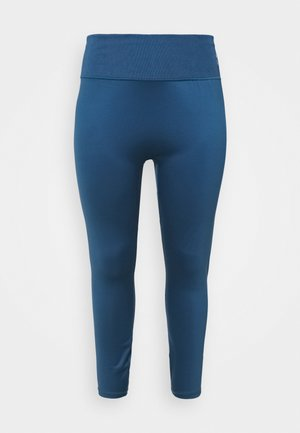 EXHALE HIGH WAIST PLUS SIZE - Leggings - ensign blue