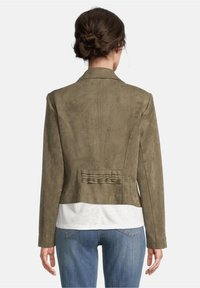 Betty Barclay - Faux leather jacket - olive - 2