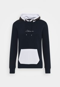 CLOSURE London - CONTRAST HOOD WITH TAPING - Hoodie - navy - 3