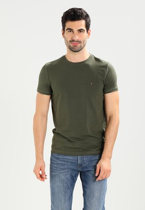 STRETCH SLIM FIT TEE - T-shirt basic - green