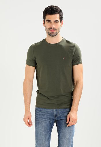 STRETCH SLIM FIT TEE - T-shirt basic - green