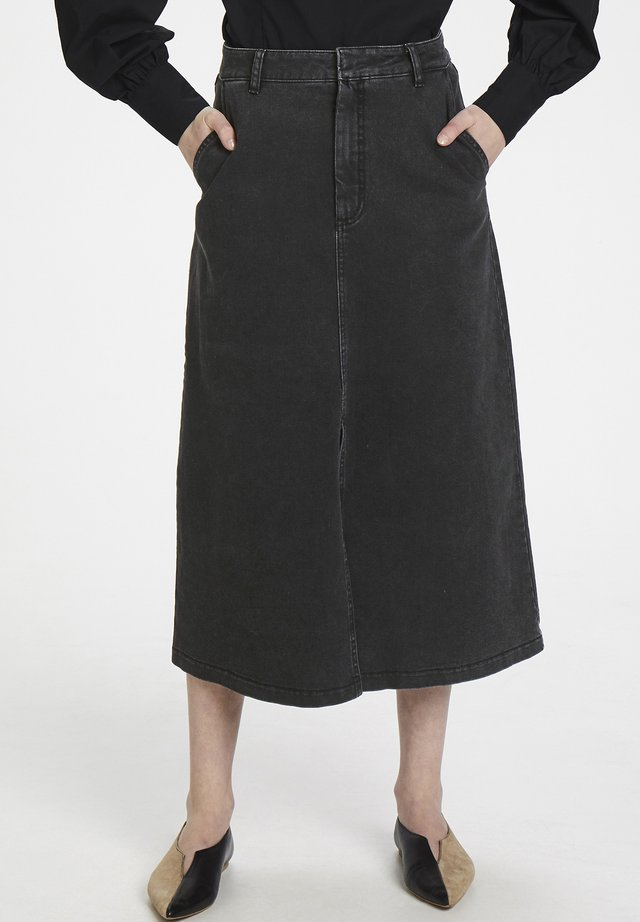 SOFYGZ  - Jupe trapèze - washed black