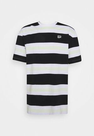 DOWNTOWN STRIPED TEE - Triko s potiskem - white