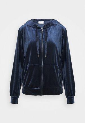 VIVELVETTA ZIP HOODIE - Zip-up hoodie - navy blazer