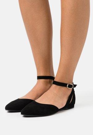 BENNY - Ankle strap ballet pumps - black