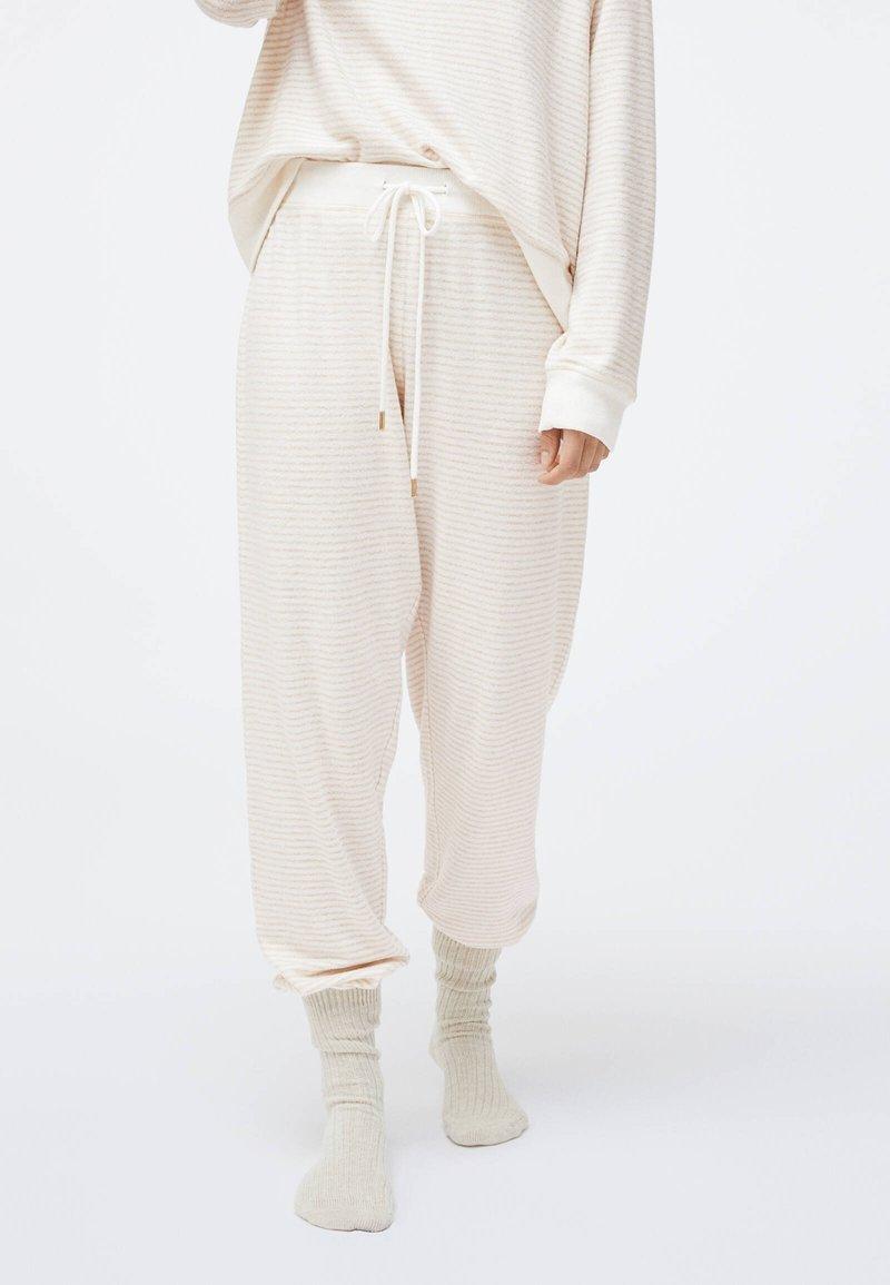 OYSHO - Pyjama bottoms - white