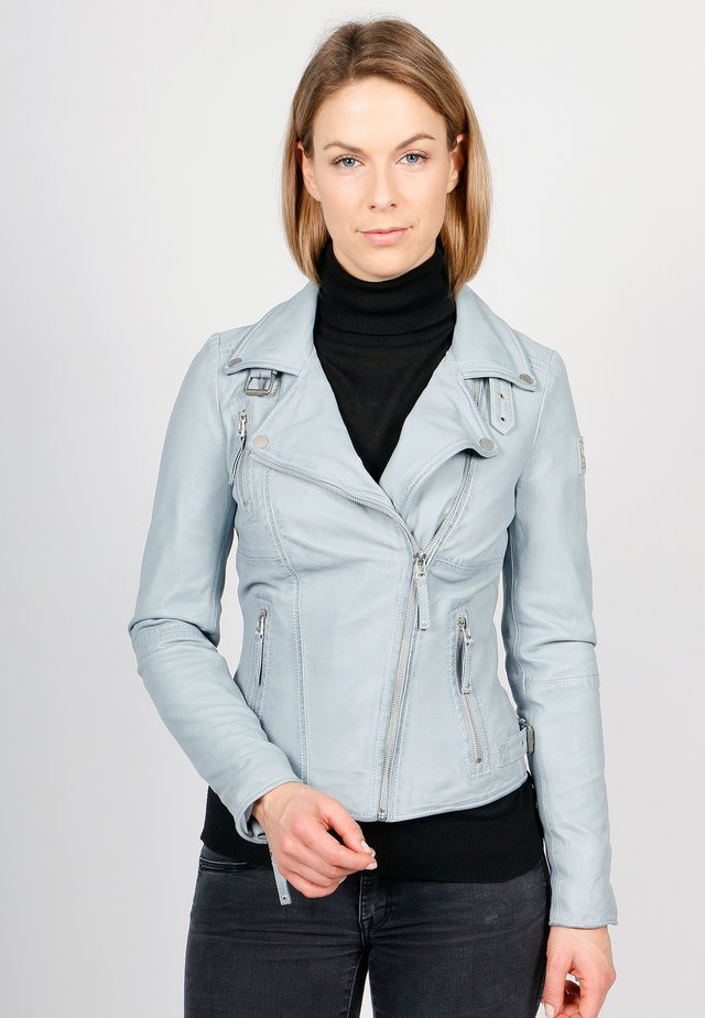 BIKER PRINCESS - Leather jacket - sky