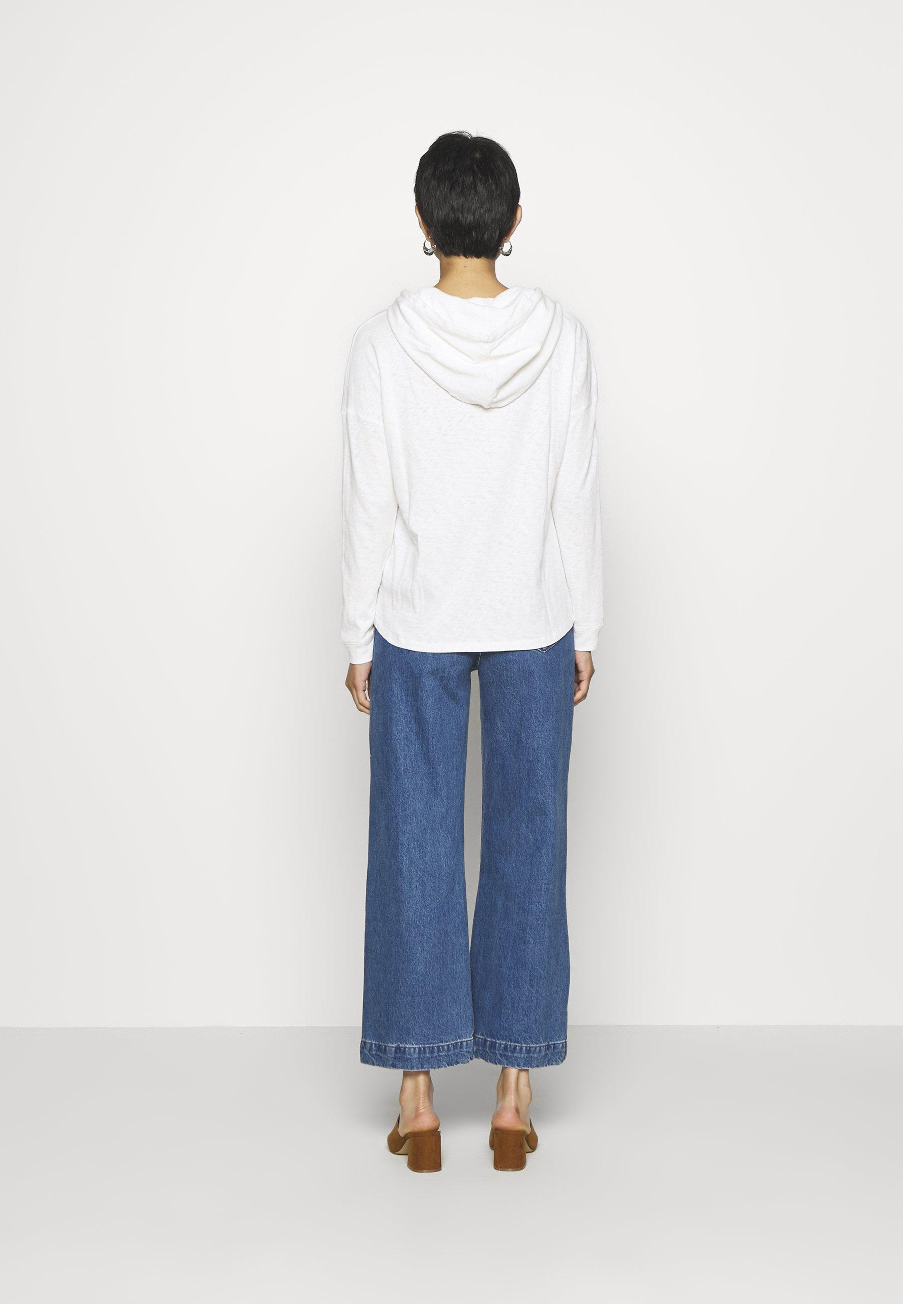 Explore Women's Clothing Marc O'Polo DENIM LONG SLEEVE HOODY BUTTON PLACKET Hoodie scandinavian white zQmZ3Hc98