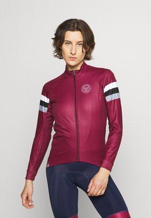 CHERIE JACKET LEOPARD - Training jacket - burgundy