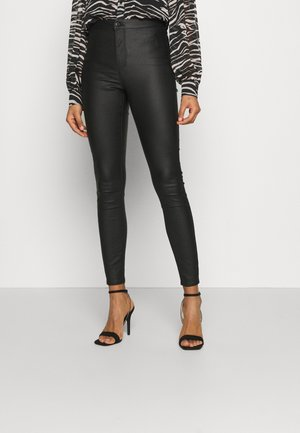 VMJOY COATED PANTS MIX - Broek - black