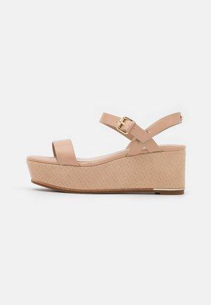 ELOINIEL - Platform sandals - bone