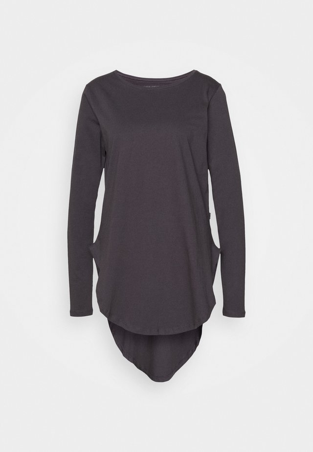 LONG SLEEVE TEARDROP TEE - Topper langermet - asphalt