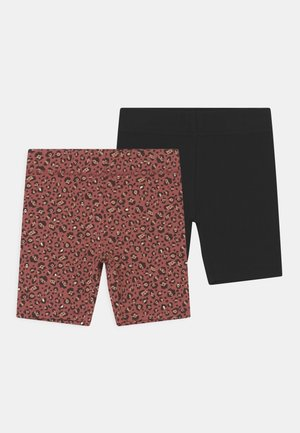 HAILEY 2 PACK - Shorts - black/chutney
