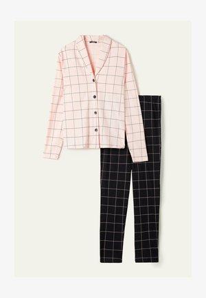 SET - Pyjamas - sweet pink/nero st.net