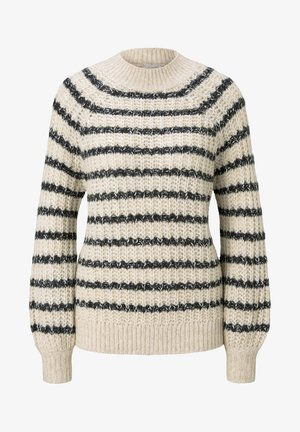 Maglione - big creme navy stripe