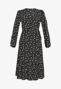 Wallis - DITSY TIERED MIDI WRAP DRESS - Sukienka letnia - black - 3