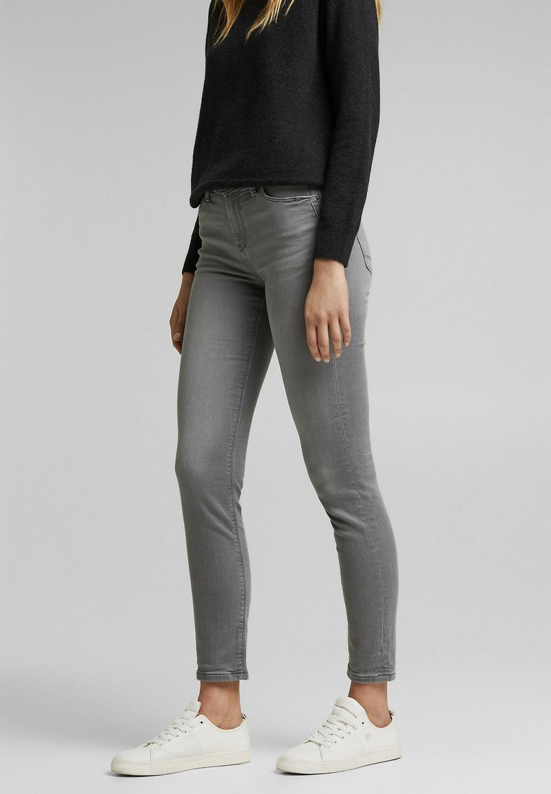 Esprit - Slim fit jeans - grey medium washed