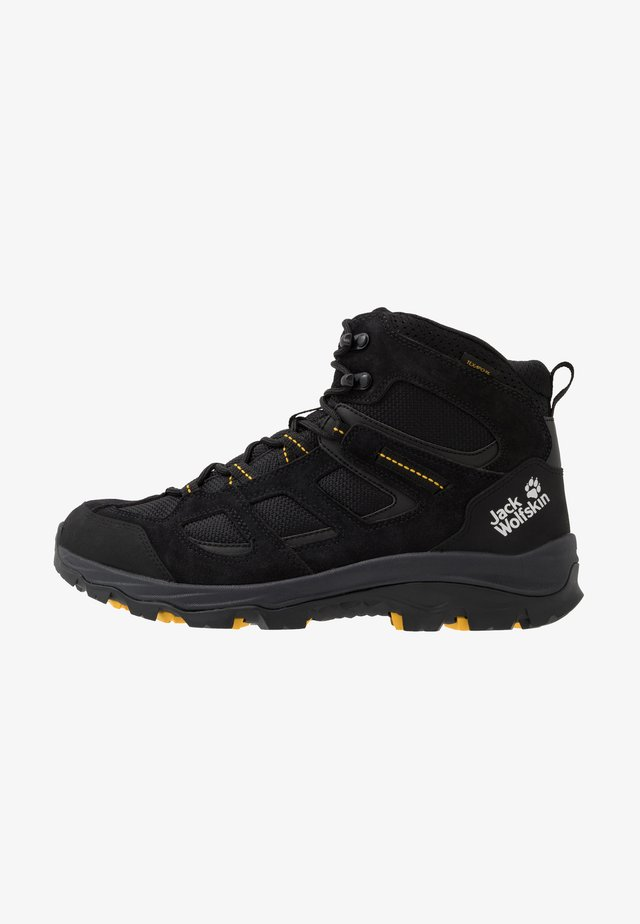 VOJO 3 TEXAPORE MID - Chaussures de marche - black/burly yellow