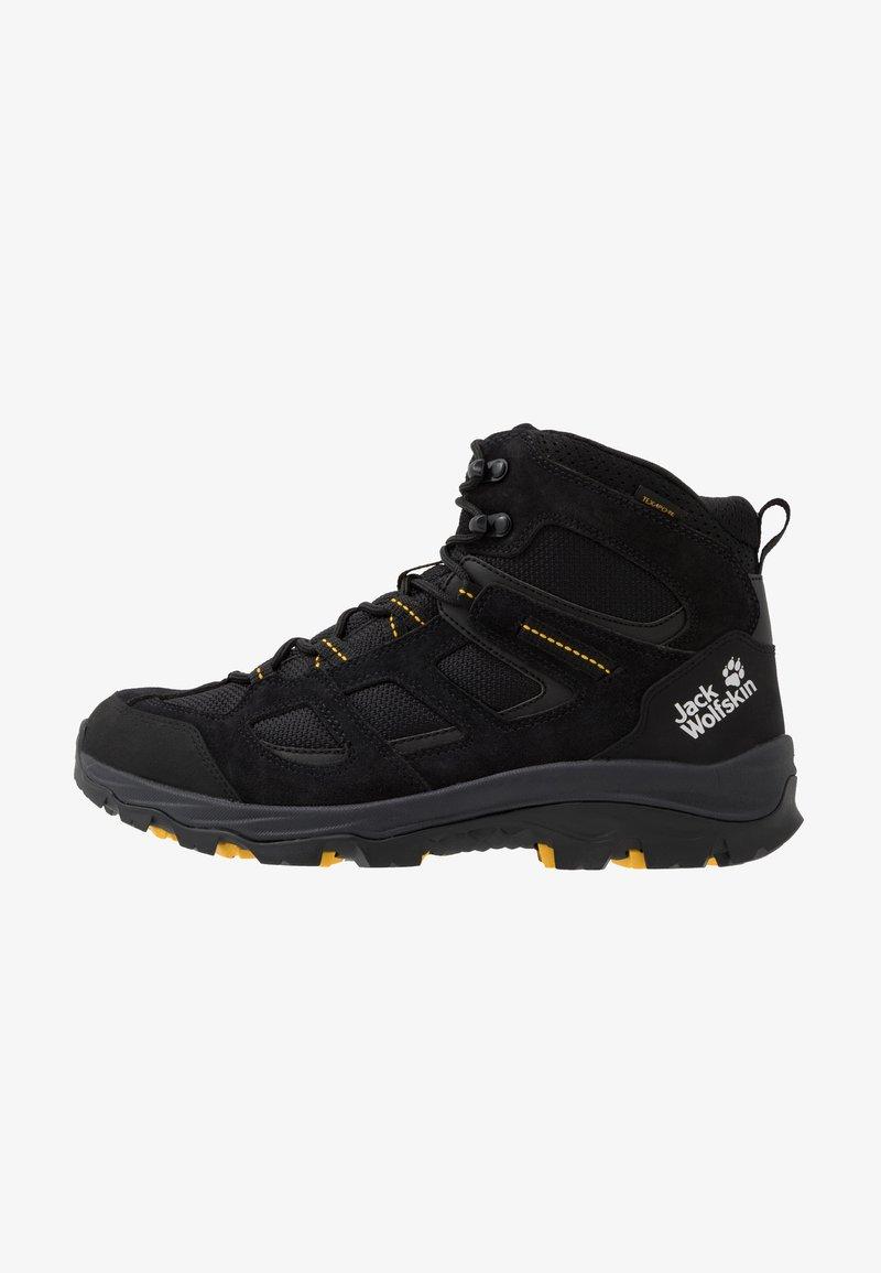 Jack Wolfskin - VOJO 3 TEXAPORE MID - Hiking shoes - black/burly yellow