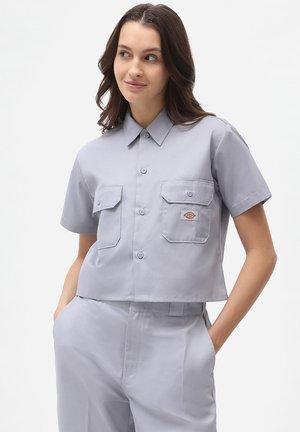 Button-down blouse - lilac gray