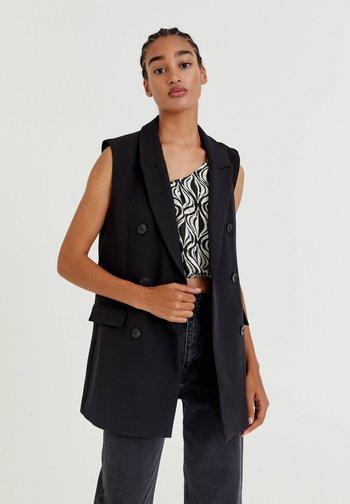 LEICHTE - Waistcoat - mottled black