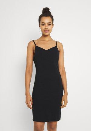 VMDINA SHORT SINGLET DRESS - Žerzejové šaty - black