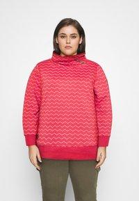 Ragwear Plus - CHEVRON - Mikina - red - 0