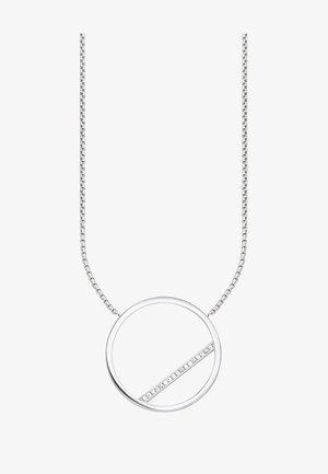 KREIS - Necklace - silver-coloured/white