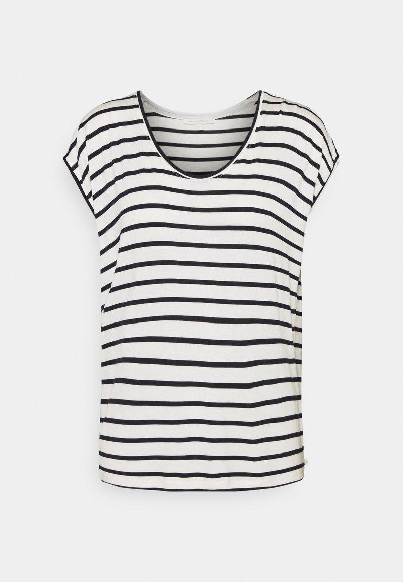 TOM TAILOR DENIM - STRIPED RELAXED TEE - Print T-shirt - navy/white