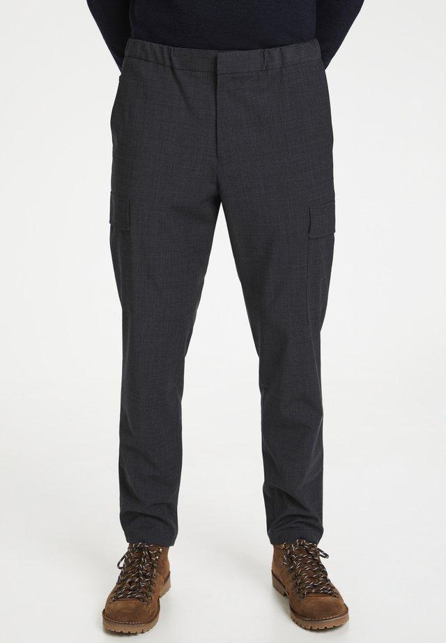 Pantaloni cargo - medium grey melange