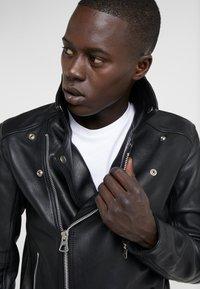 Bruuns Bazaar - FELIX JACKET - Leather jacket - black - 5