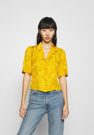 GABBY - Button-down blouse - yellow