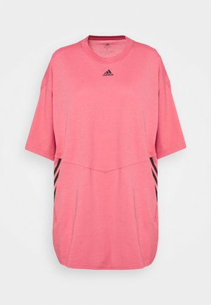OVERSIZED TEE - Camiseta estampada - hazy rose/black