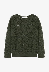 Rosemunde - T-SHIRT LS - Langærmede T-shirts - black green - 2