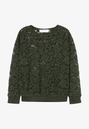 T-SHIRT LS - Long sleeved top - black green