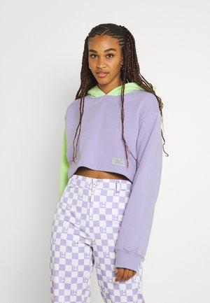 SORBET CROPPED HOODIE - Sweater - lavender/light green