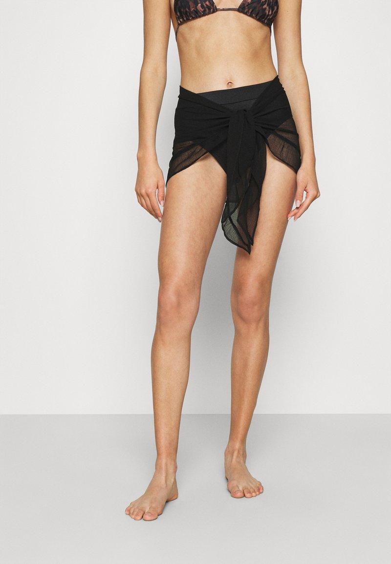Marks & Spencer London - MINI FRILL SARONG - Beach accessory - black