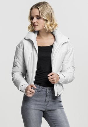 LADIES OVERSIZED HIGH NECK JACKET - Light jacket - white