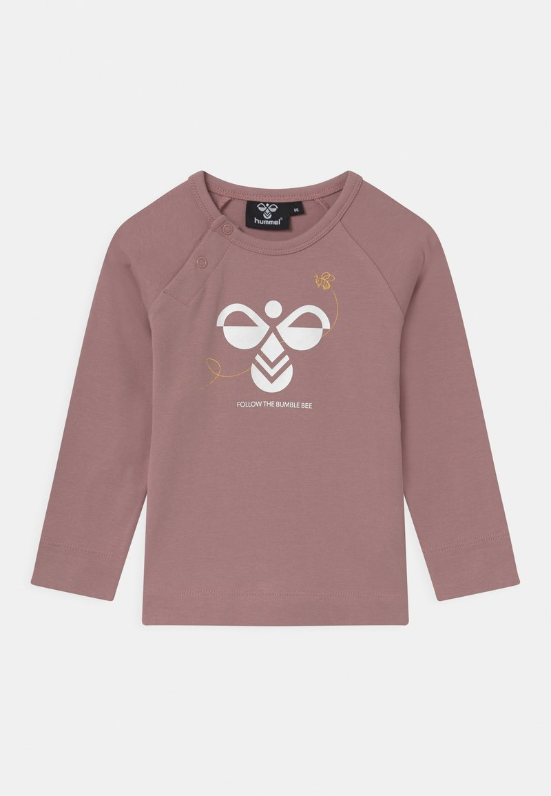 Hummel - ALMA UNISEX - Langærmede T-shirts - woodrose