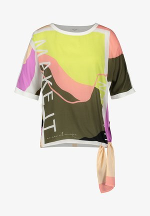 Print T-shirt - green/violet/pink