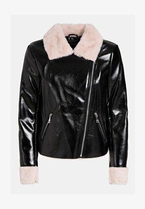 BESCHICHTETE OPTIK - Faux leather jacket - mehrfarbig schwarz
