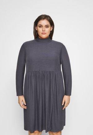 SOFT TOUCH HIGHNECK SMOCK DRESS - Žerzejové šaty - dark grey