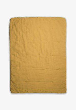 WITH BORDER - Baby blanket - mustard yellow