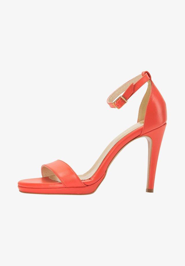 Sandalen met hoge hak - orange
