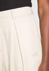 esmé studios - ESMARINA WIDE LOOSE PANTS - Trousers - bleached sand - 4