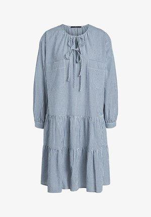 Korte jurk - blue white